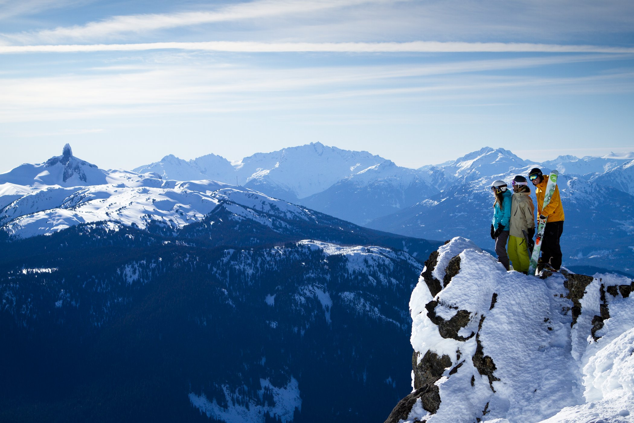 Skiers at Whistler Blackcomb, Canada