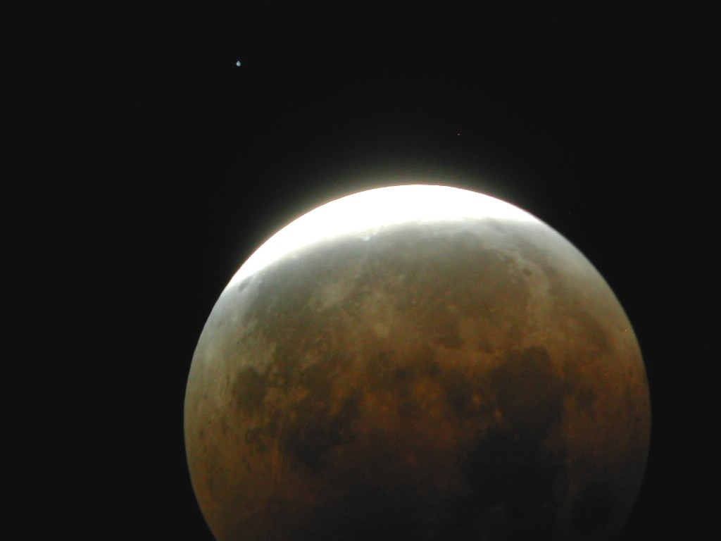 A picture of a lunar eclipse captured by Mike Alexander